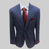 64. MANTONI WOOL BLUE/MULTI PLAID SPORTCOAT Thumbnail