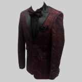 54. RED/BLACK SPARKLE BEAD SPORTCOAT Thumbnail