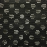 C032. BLACK/WHITE BIG DOTS TIE & HANKY SET Thumbnail