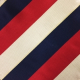 C74. RED/NAVY/CREAM STRIPE TIE & HANKY SET Thumbnail
