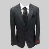 60. ENZO 100% WOOL CHARCOAL CHECK SPORTCOAT Thumbnail