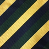 C133. NAVY/GREEN/GOLD STRIPE TIE & HANKY SET Thumbnail