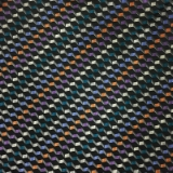 C042. BLACK/MULTICOLORED CHECK TIE&HANKY SET Thumbnail