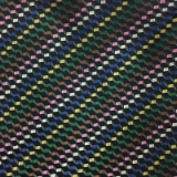C132. NAVY/MULTICOLORED CHECK TIE & HANKY SET Thumbnail
