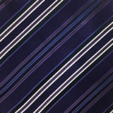C071. PURPLE/NAVY/WHITE STRIPE TIE&HANKY SET Thumbnail