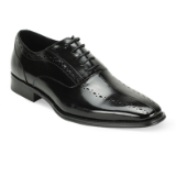 10. ALFO BLACK LEATHER LACE UP SHOE Thumbnail