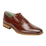 13. ALFO COGNAC LEATHER LACE UP SHOE Thumbnail