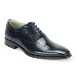 11. ALFO NAVY LEATHER LACE UP SHOE Thumbnail