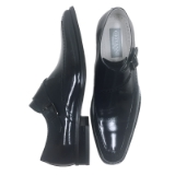 20. AMATO NAVY LEATHER SLIP ON SHOE Thumbnail