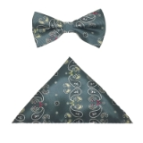 GREY PAISLEY BOW TIE SET Thumbnail