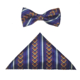 PURPLE STRIPE BOW TIE SET Thumbnail