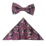 PINK FLOWERS BOW TIE SET Thumbnail