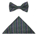 BLUE/MULTI OVALS BOW TIE SET Thumbnail