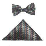 BROWN/MULTI OVALS BOW TIE SET Thumbnail
