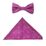 PINK/BLUE PAISLEY BOW TIE SET Thumbnail
