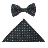BLACK/MULTI DOT BOW TIE SET Thumbnail
