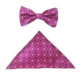 FUCHSIA/MULTI DOT BOW TIE SET Thumbnail