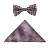 PINK/BLACK STAR BOW TIE SET Thumbnail