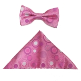 PINK/GREY BUBBLE BOWTIE SET Thumbnail