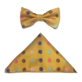 YELLOW/MULTI BIG DOT BOWTIE ST Thumbnail