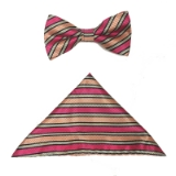 ORANGE/CORAL STRIPE BOWTIE SET Thumbnail