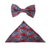 RED/BLUE PAISLEY BOWTIE SET Thumbnail