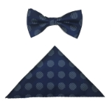 NAVY/WHITE BIG DOT BOWTIE SET Thumbnail