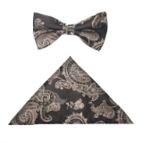 BROWN/GOLD PAISLEY BOWTIE SET Thumbnail