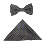 BROWN/NAVY TETRIS BOWTIE SET Thumbnail