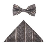BROWN/BLUE PAISLEY BOWTIE SET Thumbnail