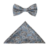 LBLUE/BROWN PAISLEY BOWTIE SET Thumbnail