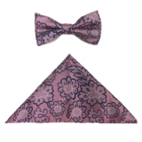 PINK/NAVY FLOWERS BOWTIE SET Thumbnail