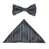 BLACK/MULTI CHECK BOWTIE SET Thumbnail
