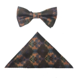 BROWN/RUST FLOWERS BOWTIE SET Thumbnail