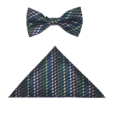 NAVY/MULTI CHECK BOWTIE SET Thumbnail