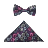PURPLE/PINK ROSES BOWTIE SET Thumbnail