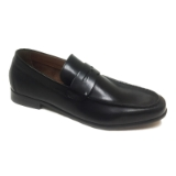01. BACCO BUCCI BACHELOR BLACK LOAFER SHOE Thumbnail