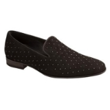 BATISTE BLACK SUEDE GLASS BEAD MEZLAN SHOE Thumbnail