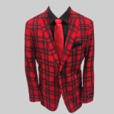 22. RED/BLACK PLAID CORDUROY SPORTCOAT Thumbnail