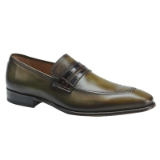 BORJA OLIVE/BROWN LEATHER MEZLAN SHOE Thumbnail