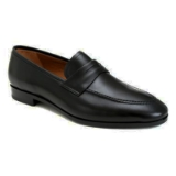 BRADLEY BLACK LEATHER MEZLAN SHOE Thumbnail