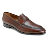 BRADLEY COGNAC LEATHER MEZLAN SHOE Thumbnail