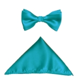 TEAL SOLID BOW TIE SET Thumbnail