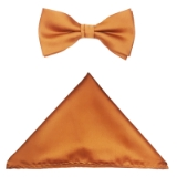 COGNAC SOLID BOW TIE SET Thumbnail