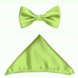 LIME GREEN SOLID BOW TIE SET Thumbnail