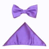 LILAC SOLID BOW TIE SET Thumbnail