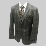 13. GREY/TAUPE PLAID 100% COTTON SPORTCOAT Thumbnail