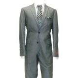 63. ADOLFO GREY SHARKSKIN SLIM FIT SUIT Thumbnail