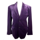 07. ADOLFO PURPLE VELVET 2-BUTTON SPORTCOAT Thumbnail