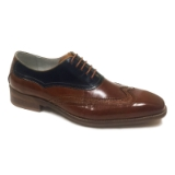 15. CYPRUS TAN/NAVY LACE UP SHOE Thumbnail